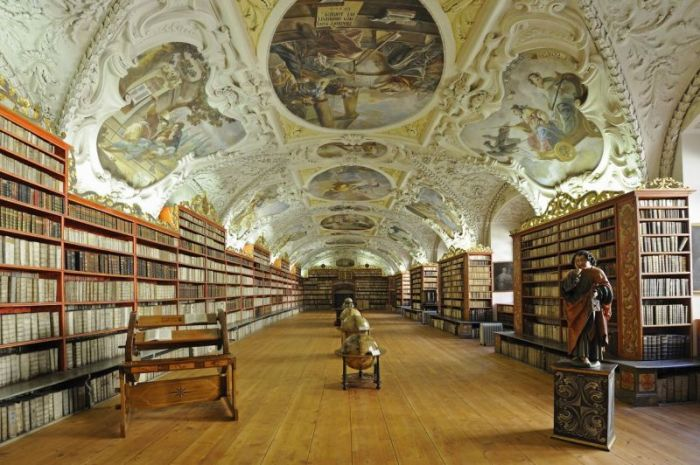 Globes, very old books, library, hall of theology, Strahov Abbey, Hradschin castle district, Prague, Czech Republic, Europe, Image: 146832343, License: Rights-managed, Restrictions: MR_No, PR_No, Model Release: no, Credit line: Profimedia, imageBROKER